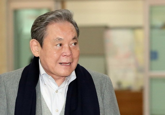 Samsung Electronics Chairman Lee Kun-hee, who is currently hospitalized in Seoul (Yonhap)
