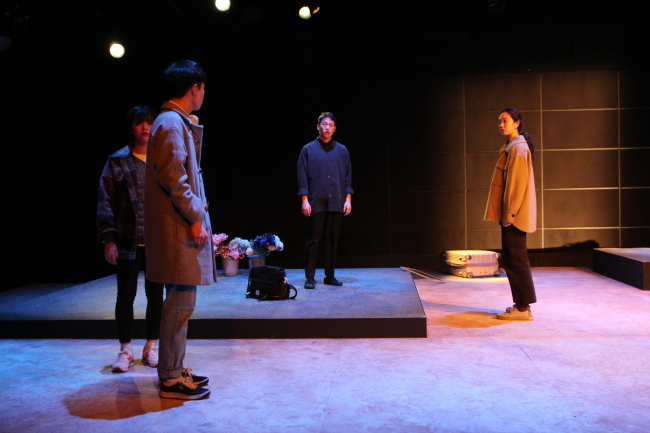 "Actors perform ""Kill Ahn Young-ho"" on Thursday at Doosan Art Center (DAC)"