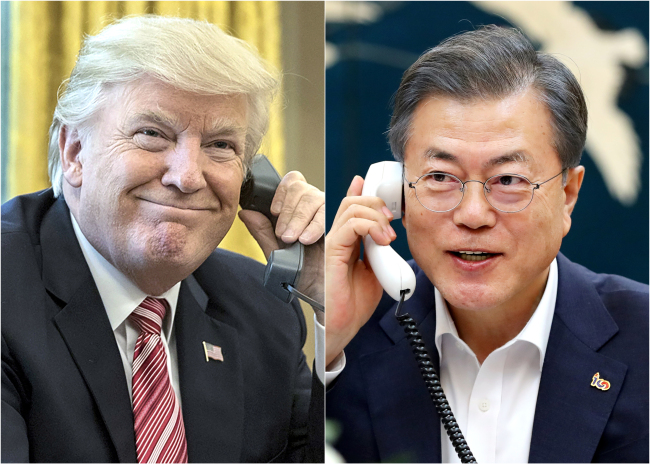 President Moon Jae-in and US President Donald Trump. Cheong Wa Dae