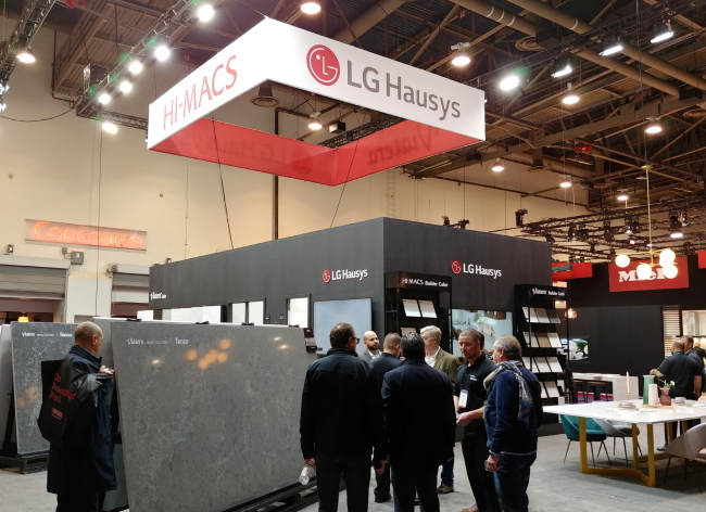 LG Hausys' booth at the Kitchen and Bath Industry show in Las Vegas this week (LG Hausys)