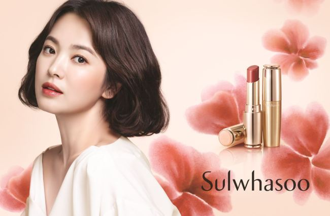 A Sulwhasoo advertisement features actress Song Hye-kyo. (Amorepacific)