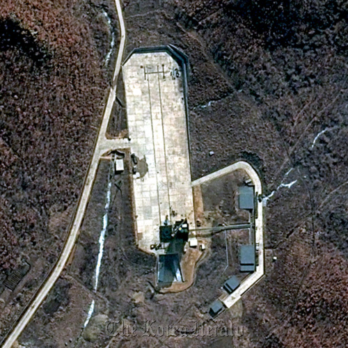 This satellite file image provided by DigitalGlobe shows North Korea's Tongchang-ri Launch Facility on the nation's western coast no March 28, 2012. AP-Yonhap