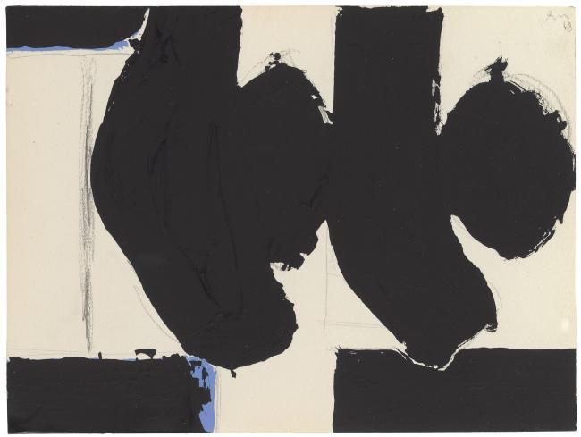 """Elegy to the Spanish Republic No. 110C"" (1968) by Robert Motherwell (Barakat Seoul)"