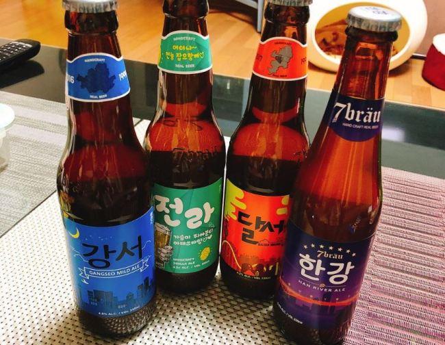 Some Korean ale brands (Instagram)