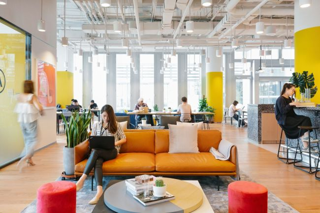 Entrepreneurs and members of startups work at one of WeWork`s offices. (WeWork)