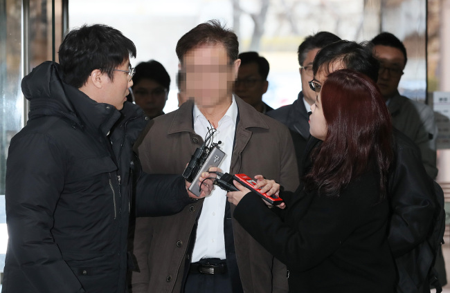 Officials from SK Chemicals attended an arrest warrant hearing Thursday (Yonhap)