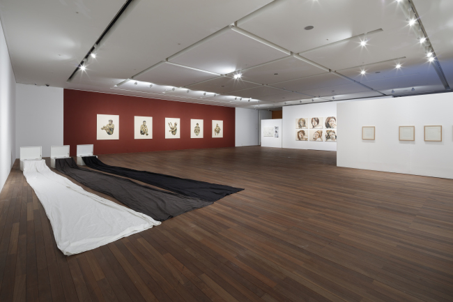 "Installation view of the Seoul National University Museum of Art's exhibition ""Lies"" (MoA)"