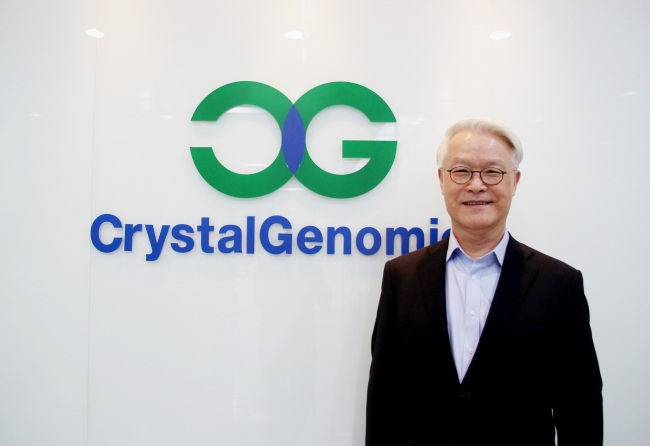 CrystalGenomics founder and President Cho Joong-myung (Lim Jeong-yeo/The Korea Herald)