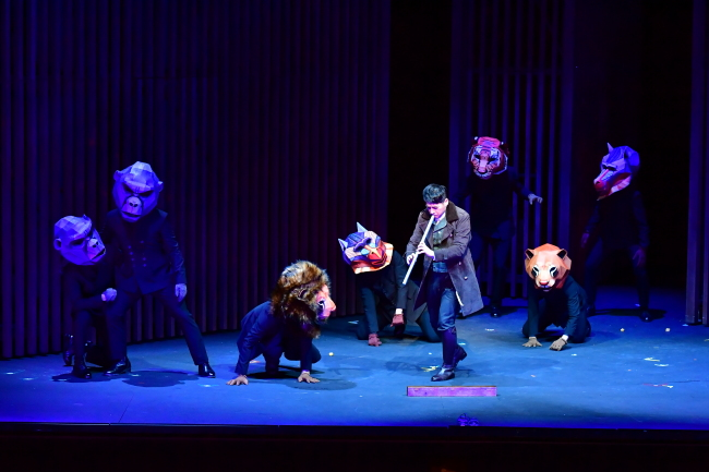 """Singers perform during a rehearsal of """"The Magic Flute"""" on Tuesday at the Seoul Arts Center. (Korea National Opera)"""