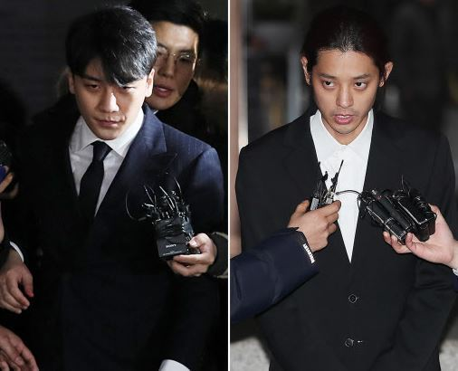 Seungri (left) Jung Joon-young (Yonhap)