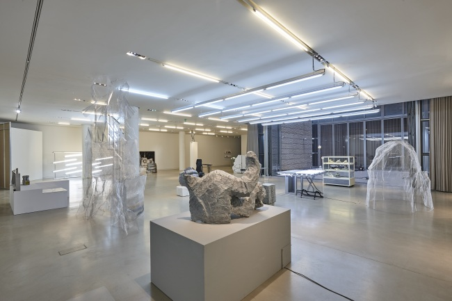 "An installation view of Jung Ji-hyun's solo exhibition, ""Multipurpose Henry,"" is seen at Atelier Hermes in Maison Hermes Dosan Park in Seoul. (Atelier Hermes)"