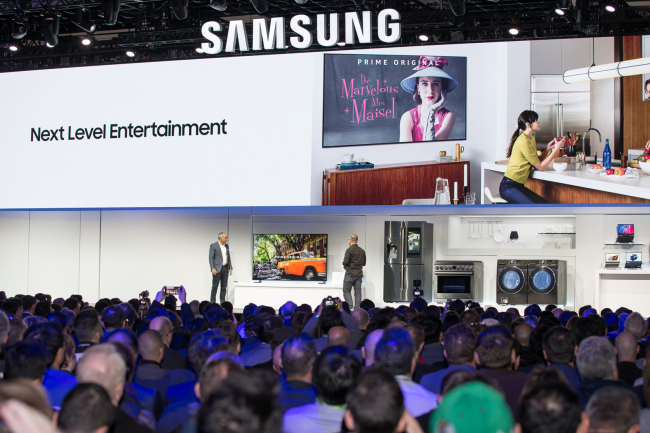 Samsung officials announce the company's vision for smart home at Consumer Electronics Show 2019 in January. (Samsung Electronics)