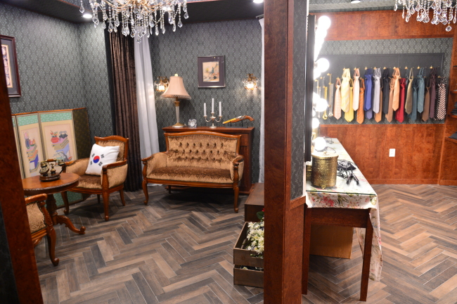 Inside Ikseon Boutique, a Gaehwagi-themed clothing rental store in Ikseon-dong, Seoul (Park Hyun-koo/The Korea Herald)