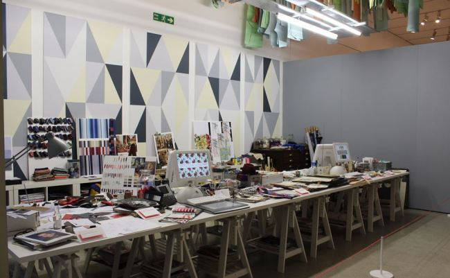 Reproduction of Paul Smith's workspace in London (Design Museum of London)