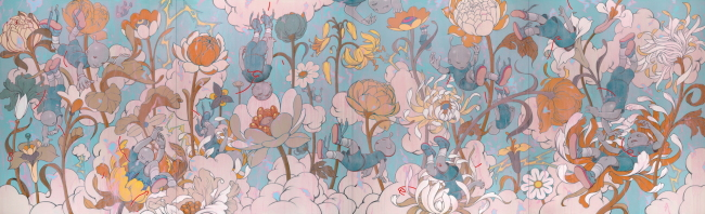 """""""Descendents-Blue Wood"""" (2018) by artist James Jean (LMOA)"""