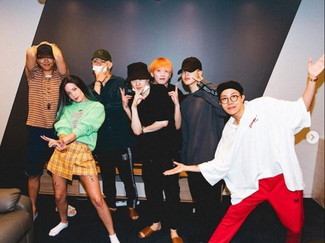BTS and Halsey (Instagram)