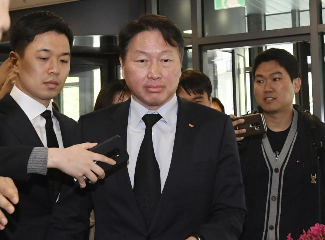SK Chairman Chey Tae-won (Yonhap)