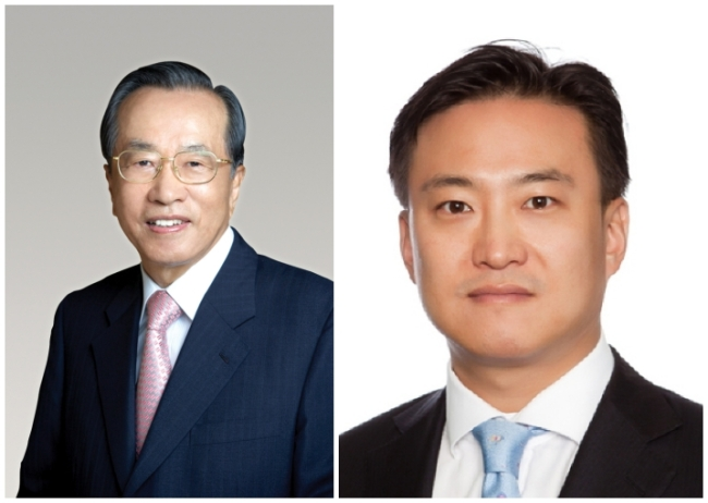 Dongwon Group founder Kim Jae-chul (left) and his younger son Kim Nam-jung (Dongwon Group)