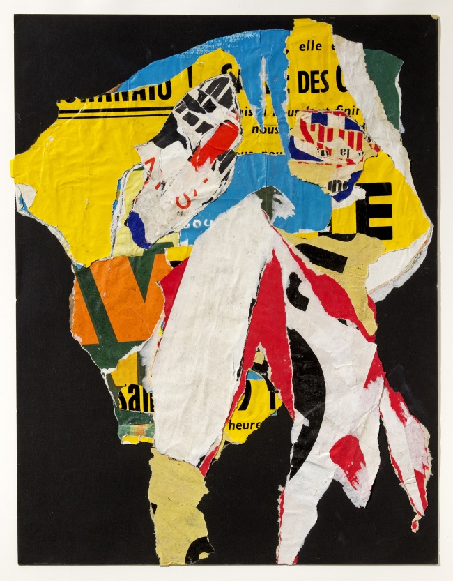 """""""Untitled (Decollage),"""" (1964) by Asger Jorn (MMCA)"""
