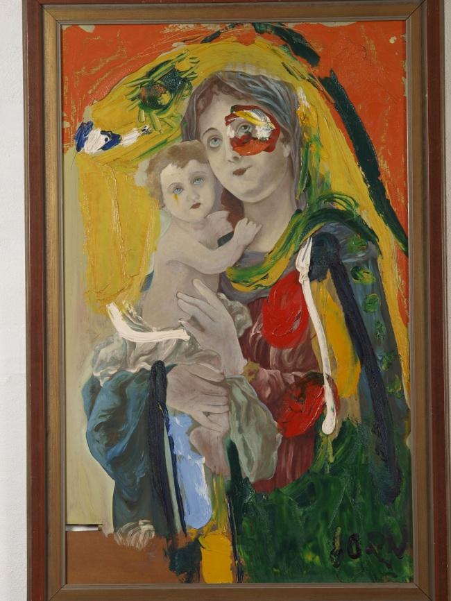 """Secular Virgin,"" (1960) by Asger Jorn (MMCA)"