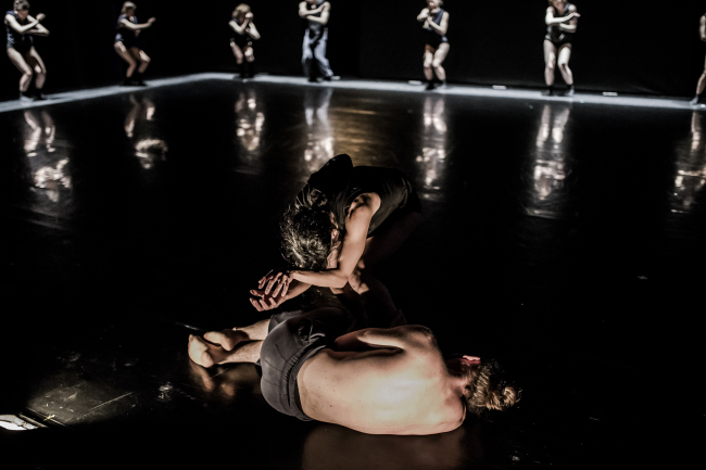 "A scene from ""Asylum,"" a new work by Kibbutz Contemporary Dance Company's new work (Eyal Hirsch)"