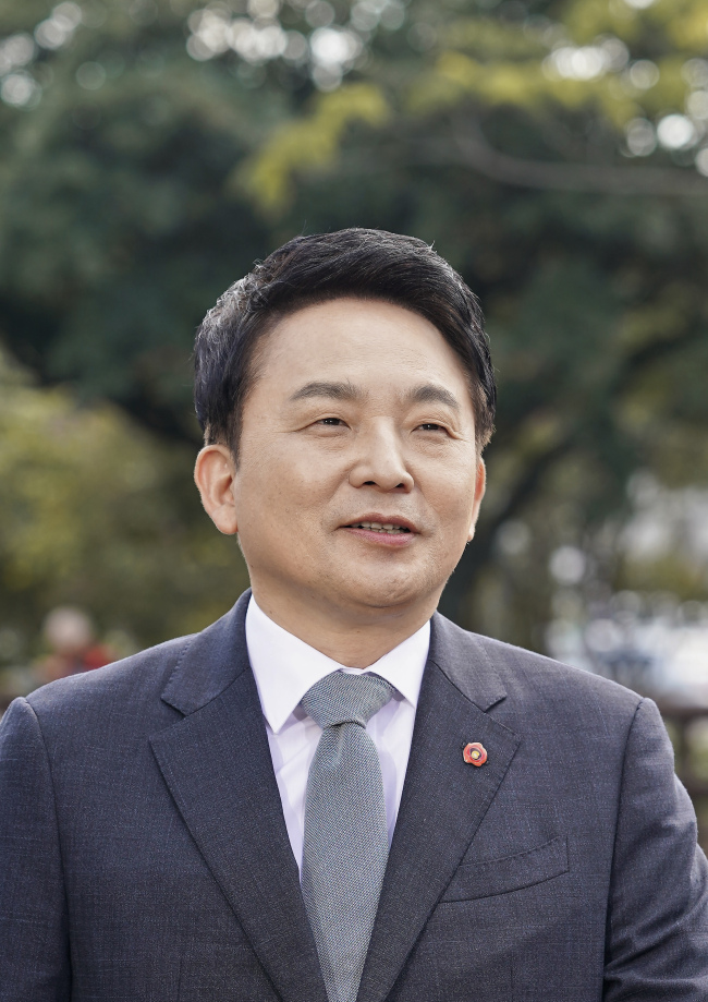 Won Hee-ryong, the governor of Jeju Special Self-Governing Province. (Jeju Provincial Government)