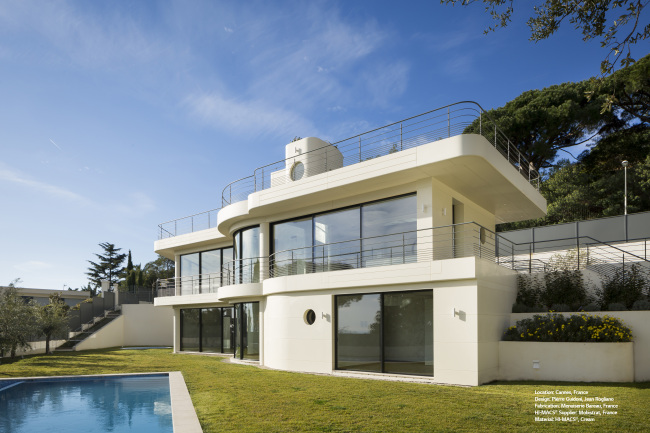 A villa located in Cannes, France featuring HI-MACS (LG Hausys)