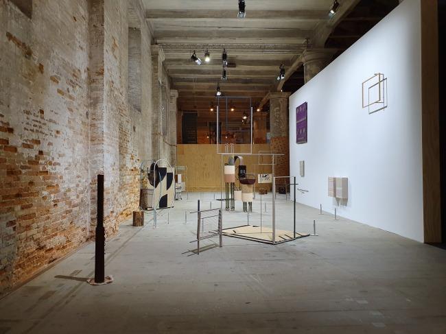 """An installation view of Suki Seokyeong Kang's """"Land Sand Strand"""" at Arsenale (Kukje Gallery)"""