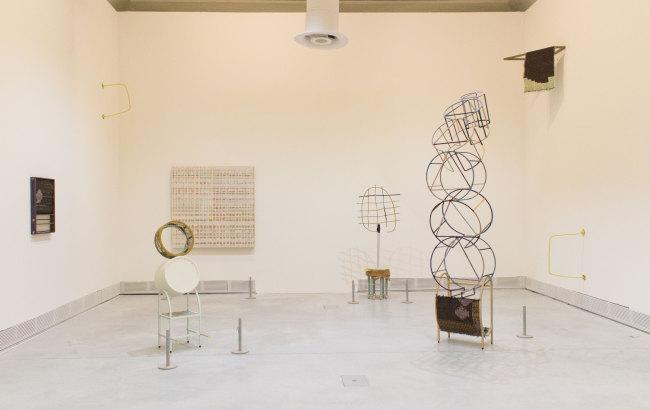 "An installation view of Suki Seokyeong Kang's ""Grandmother Tower"" at Giardini /Kukje Gallery"