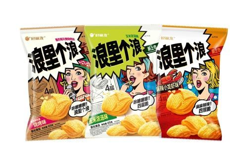 Chinese version of Turtle Chips, rebranded Langligelang (Orion)