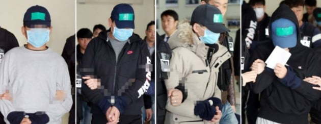 Four middle school students accused of causing their classmate's death during a bullying incident were sentenced to prison terms Tuesday. (Yonhap)
