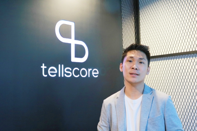 Casper Sermsuksan, Founder & CEO of EDAF and CSO of Tellscore, speaks at an interview at Tellscore headquarters in Bangkok. Son Ji-hyoung/The Investor
