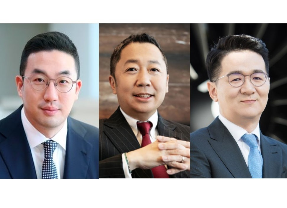 LG Group Chairman Koo Kwang-mo, Doosan Group Chairman Park Jeong-won and Hanjin Group Chairman Cho Won-tae