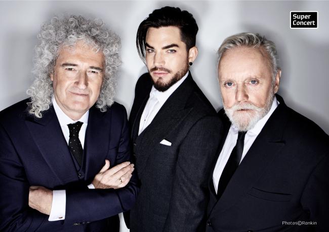 Brian May (left), Adam Lambert (center) and Roger Taylor (Hyundai Card)