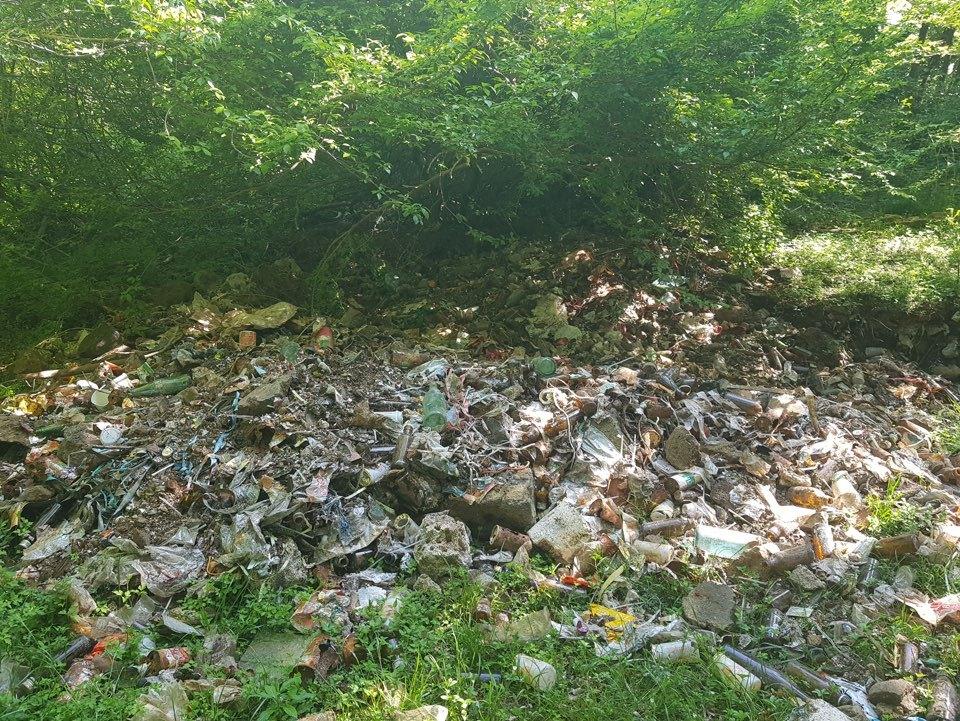 Garbage dumped in Hallasan National Park in Jeju Island (Yonhap)
