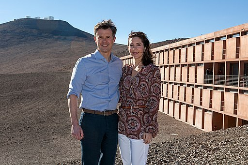 The Crown Prince Couple of Denmark during their visit to ESO's Paranal Observatory in March 2013 (ESO)
