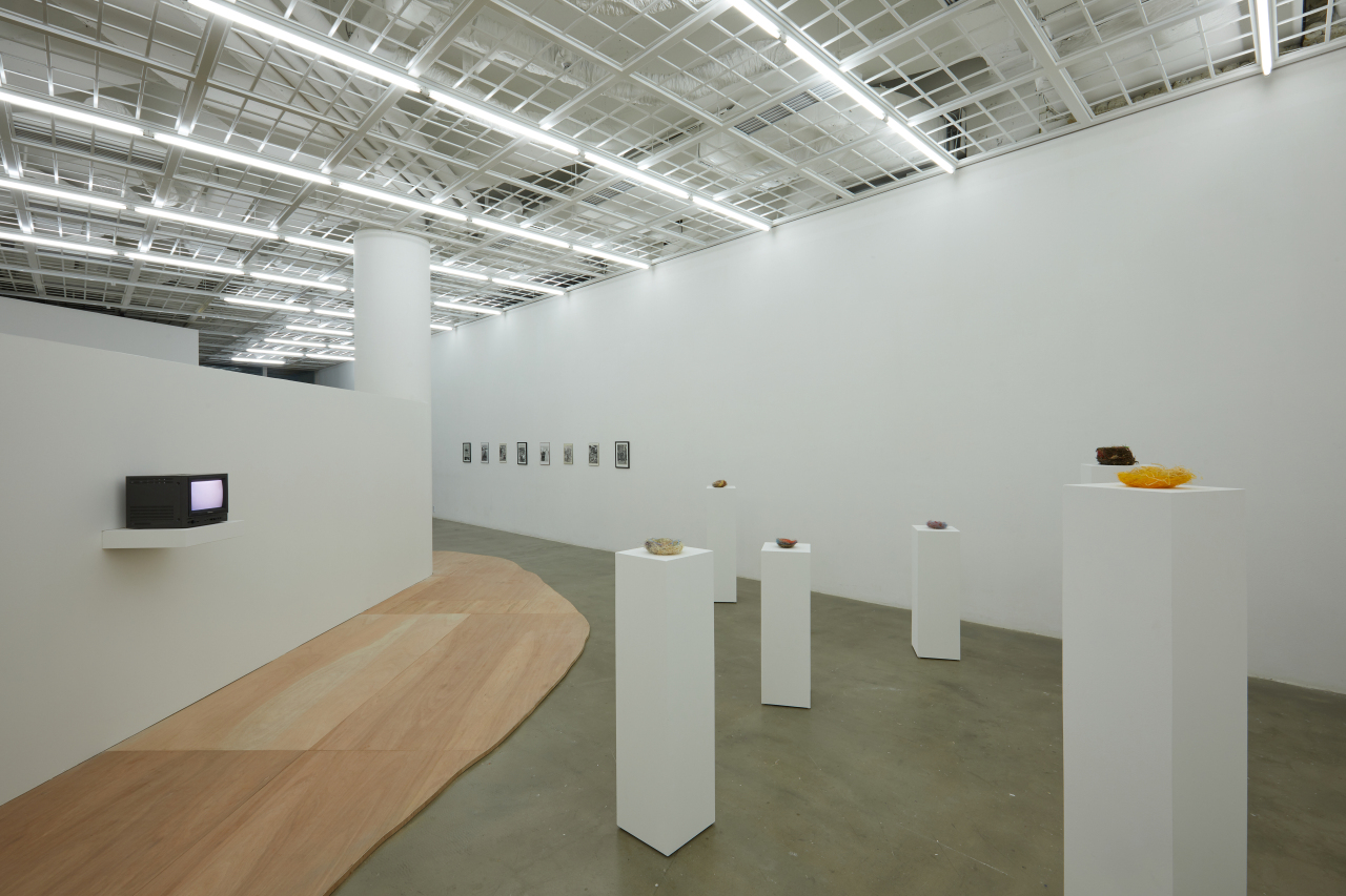 """An installation view of Art Sonje Center's exhibition """"The Island of the Colorblind."""" (Art Sonje Center)"""