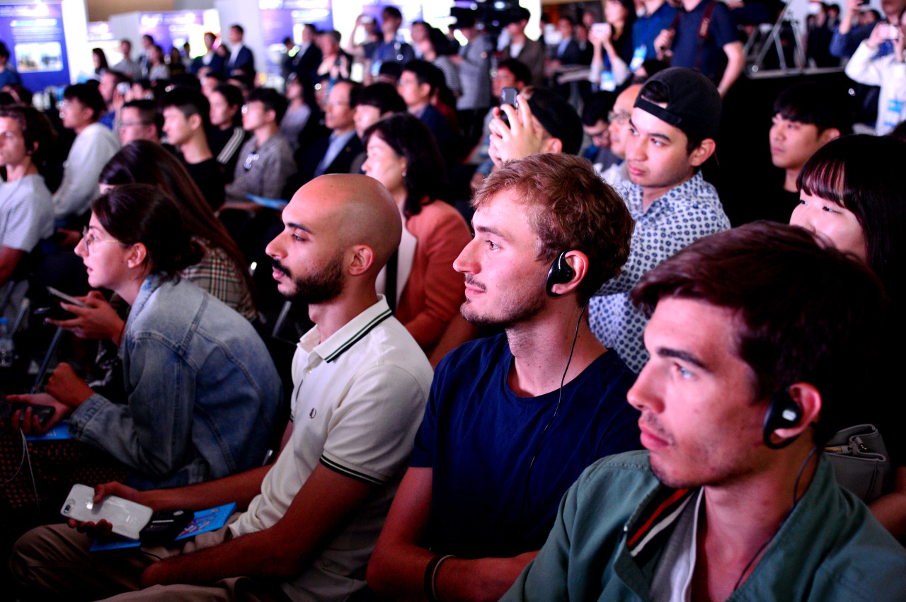 Participants listen during the opening ceremony of Exit Daejeon 2019 (Park Hyun-koo/The Korea Herald)