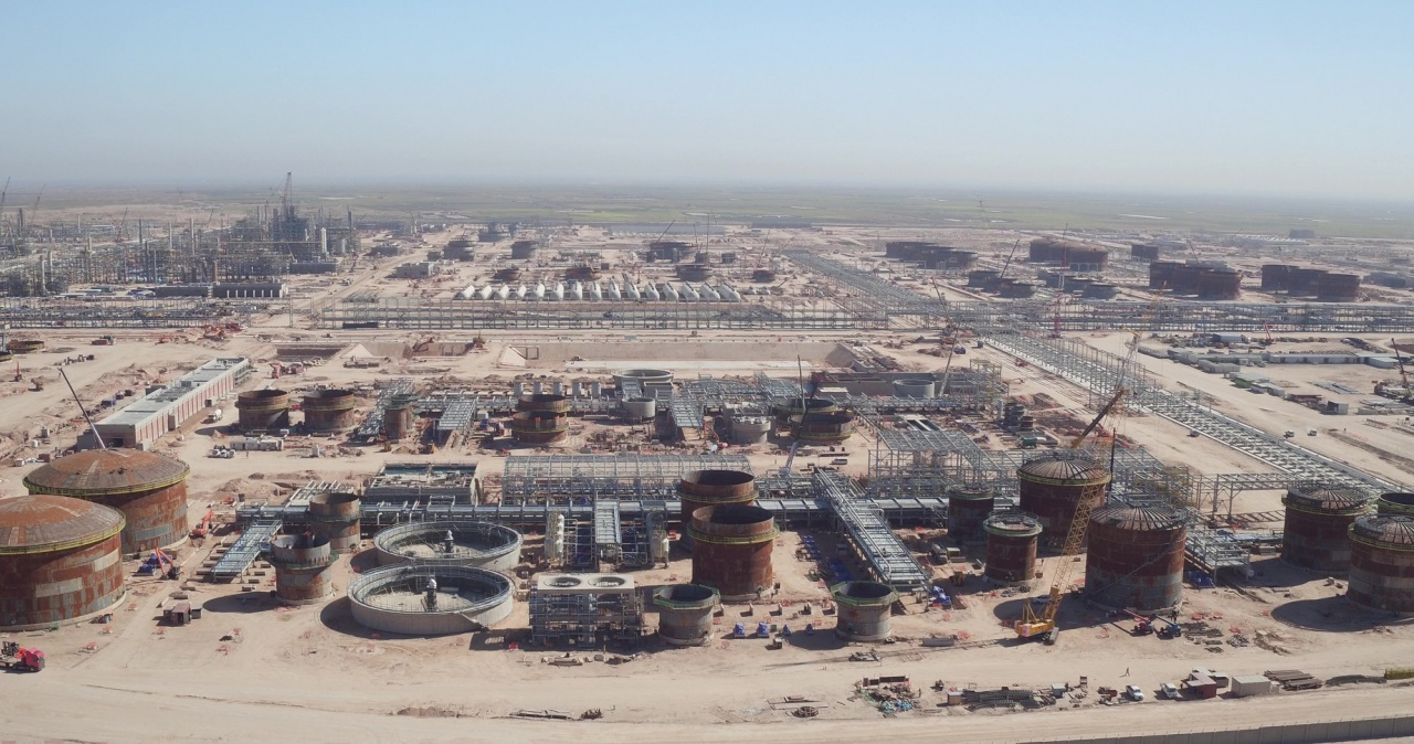 Construction site of an oil refinery in Iraq's Karbala (Hyundai E&C)