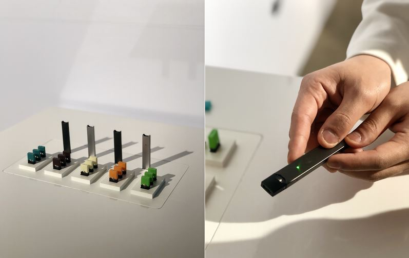 Juul Lab's vaping e-cigarette Juul (Kim Da-sol/The Korea Herald)