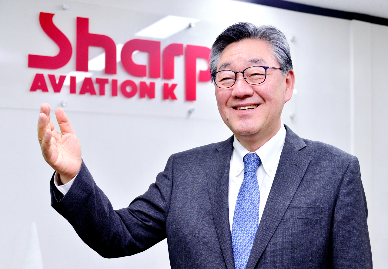 Paik Soon-suk, president and CEO of Sharp Aviation K (Park Hyun-koo/The Korea Herald)