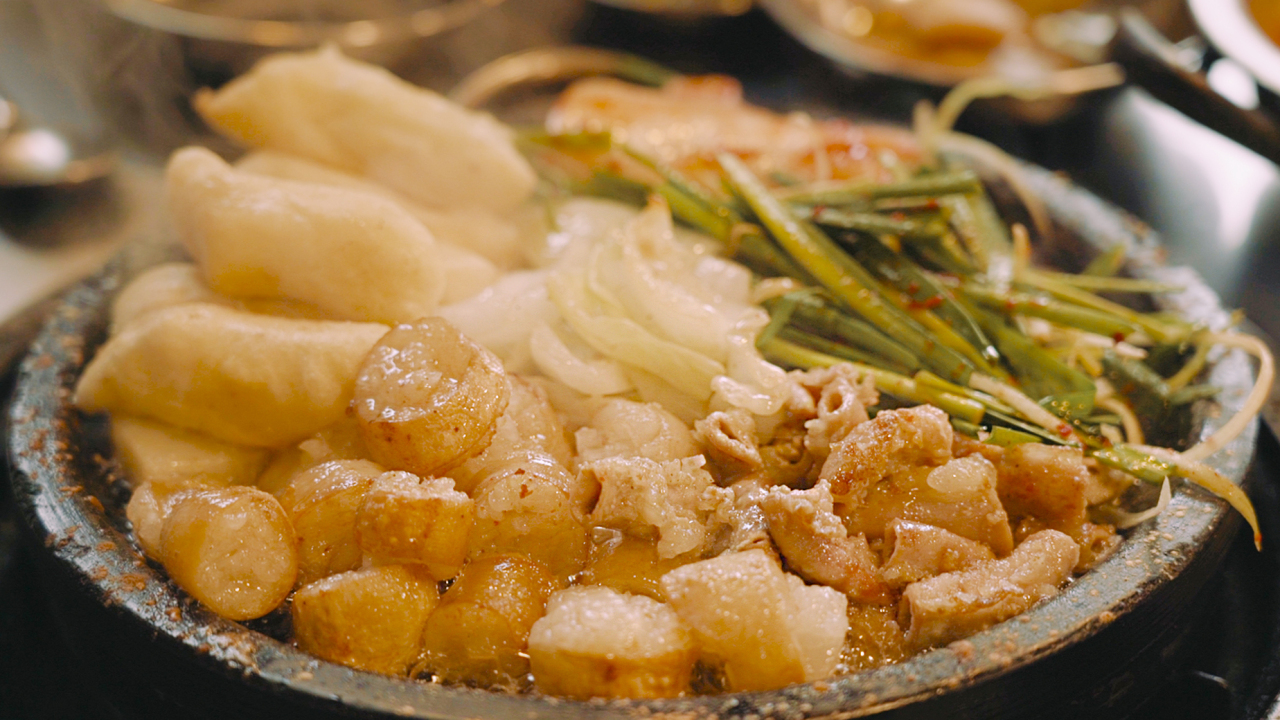 Grilled gopchang (Lee Sun-hye / The Korea Herald)