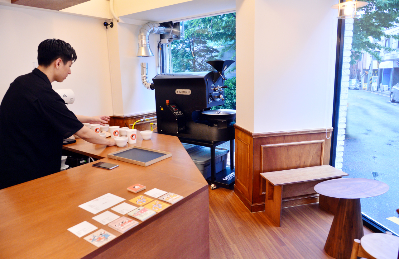 T.o.ch Coffee's showroom soft-opened in Seoul's Samseong on May 6 (Photo credit: Park Hyun-koo/The Korea Herald)