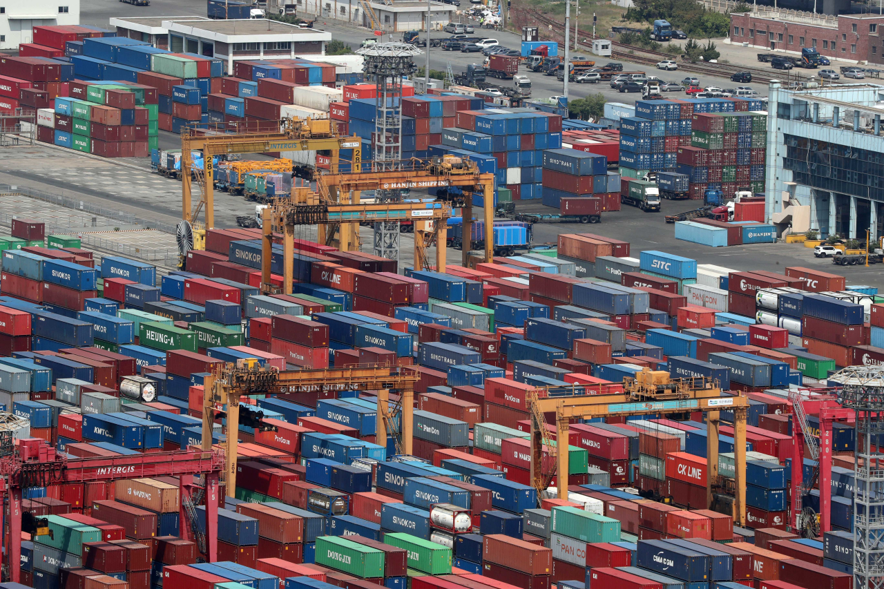 The Gamman Container Terminal in the Port of Busan, South Korea (Yonhap)