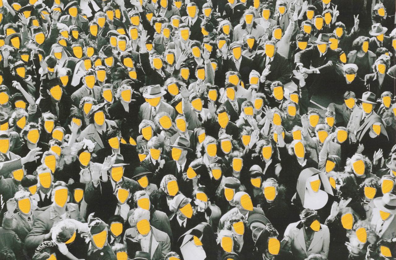"""Crowd"" (2019) by artist Brian de Graft (Mutemuse)"