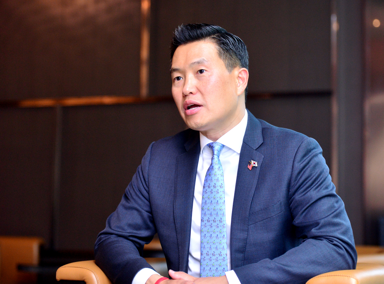 John Park, director of the Korea Project at the Harvard Kennedy School, speaks during an interview with The Korea Herald in Seoul, June 4. (Park Hyun-koo/ The Korea Herald)