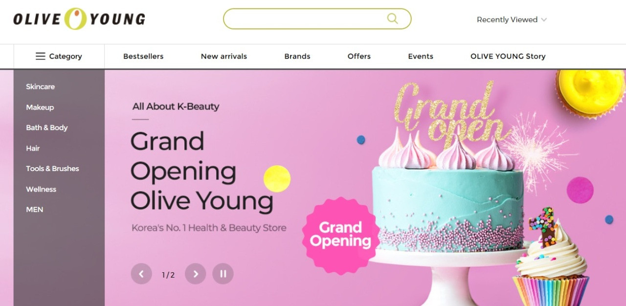 Olive Young's global online mall (CJ Olive Networks)