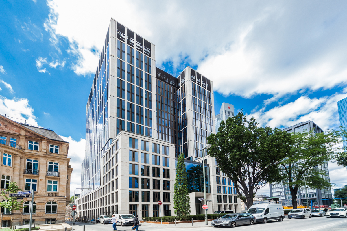 Taunusanlage 8, a prime office building located in Frankfurt, which Mirae Asset Global Investments has sold. (Mirae Asset Global Investments)