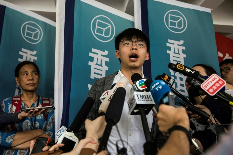 Joshua Wong, who became the poster child of the 2014