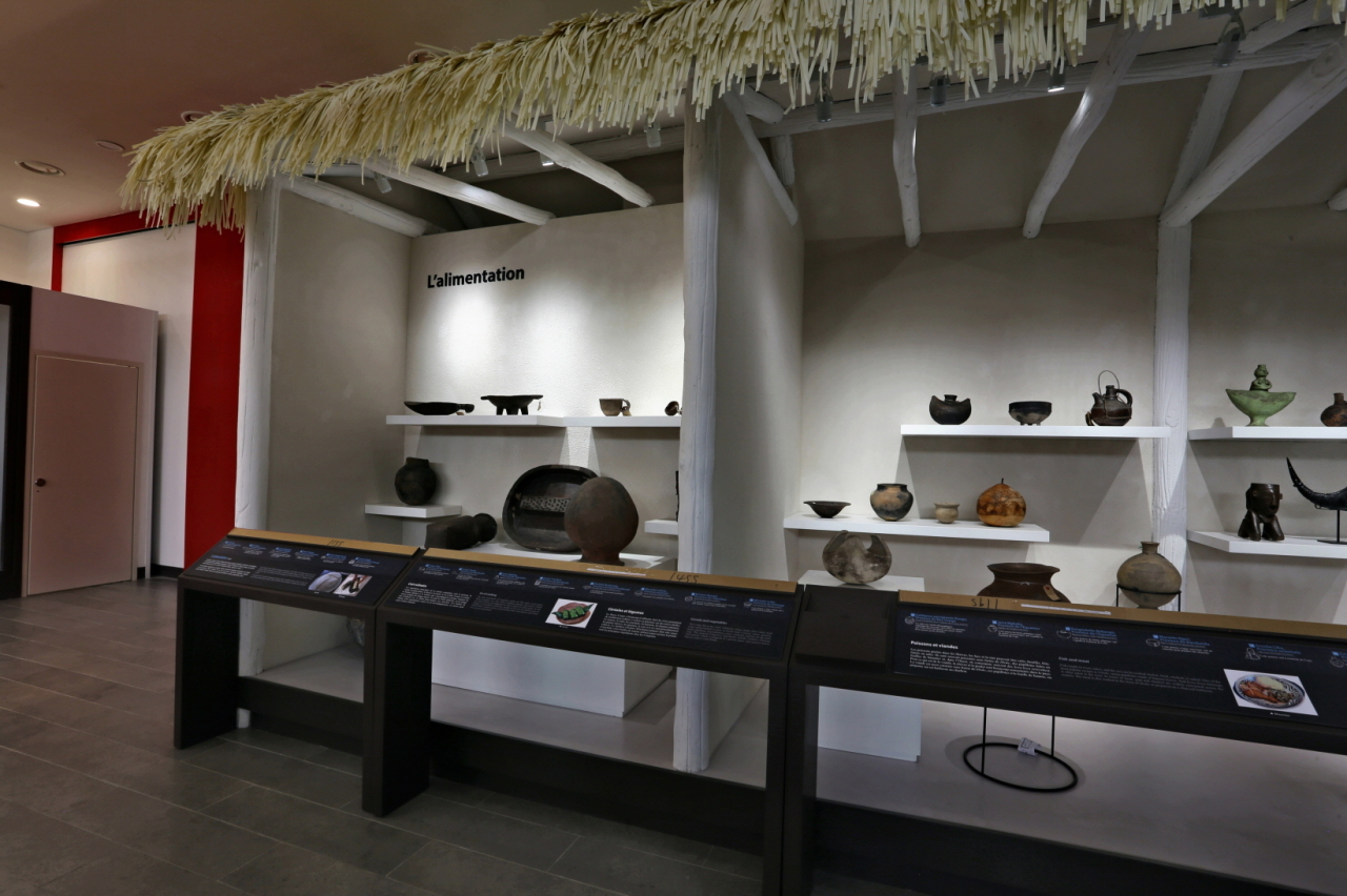 Artifacts are on display at the National Museum of Congo in capital Kinshasa. (KOICA)
